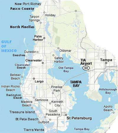 County Map Of Florida.Map Pinellas Pasco Tampa