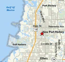 County Florida Map.Waterfront Florida Homes Pasco County Gulf Harbors
