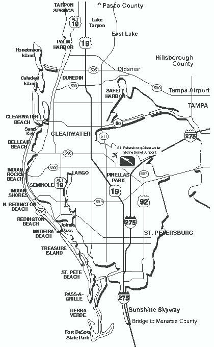 Map Of Tampa Bay Florida.Waterfront Map Tampa Bay Florida